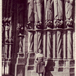 Joan (Douglas' Wife) at Chartres