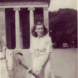 Joan (Douglas' wife) at the Boghese Gardens, June 1948