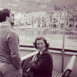 Joan (Douglas' Wife) in Capri, 1950
